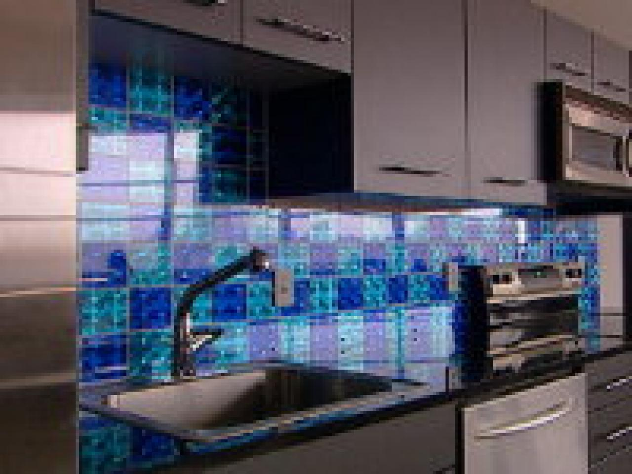 How To: Creating A Holographic Checkerboard Backsplash | HGTV
