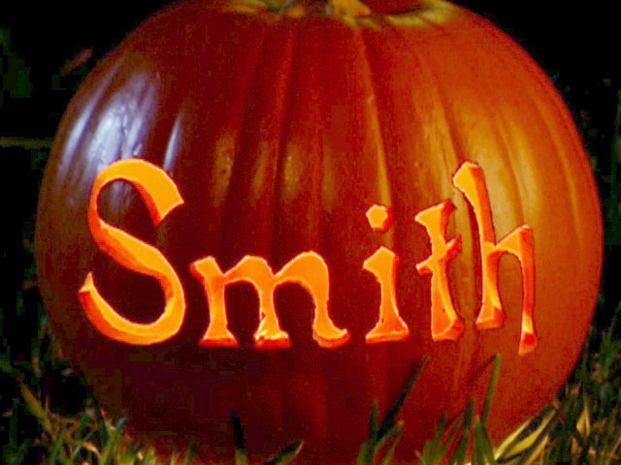 Using a pumpkin carving template hgtv