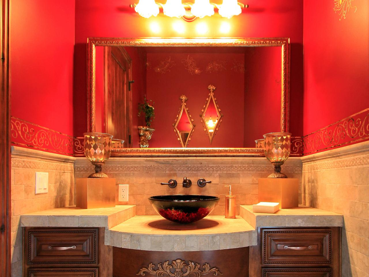 red bathroom color ideas. Light And Airy Red Bathroom Color Ideas