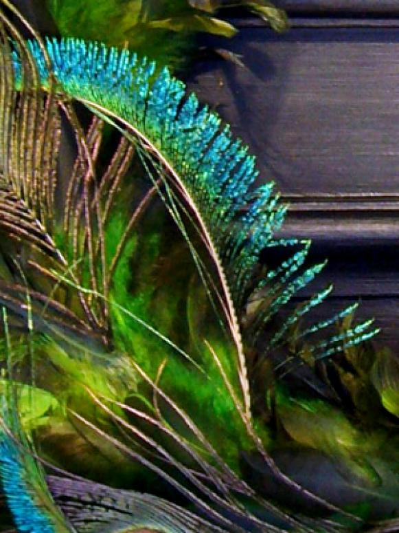 Peacock Feather Sword Detail