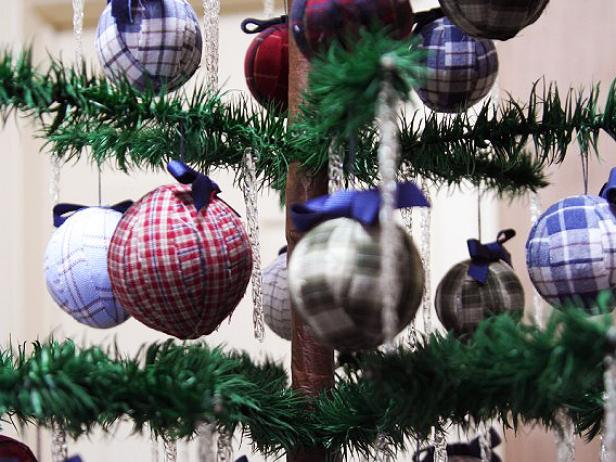 upcycled fabric christmas ornaments