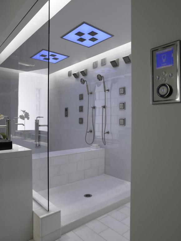 Gorgeous High End Multi Jet Shower With Digital Interface Universal Design Showers  Safety and Luxury HGTV