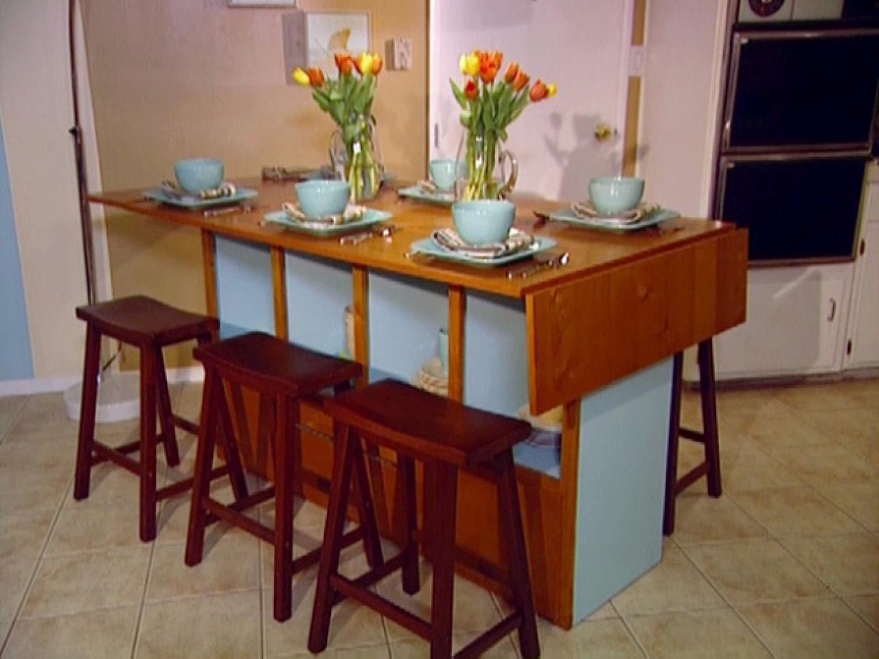 Kitchen Tables With Drawers Build a bar height dining table hgtv build a bar height dining table workwithnaturefo