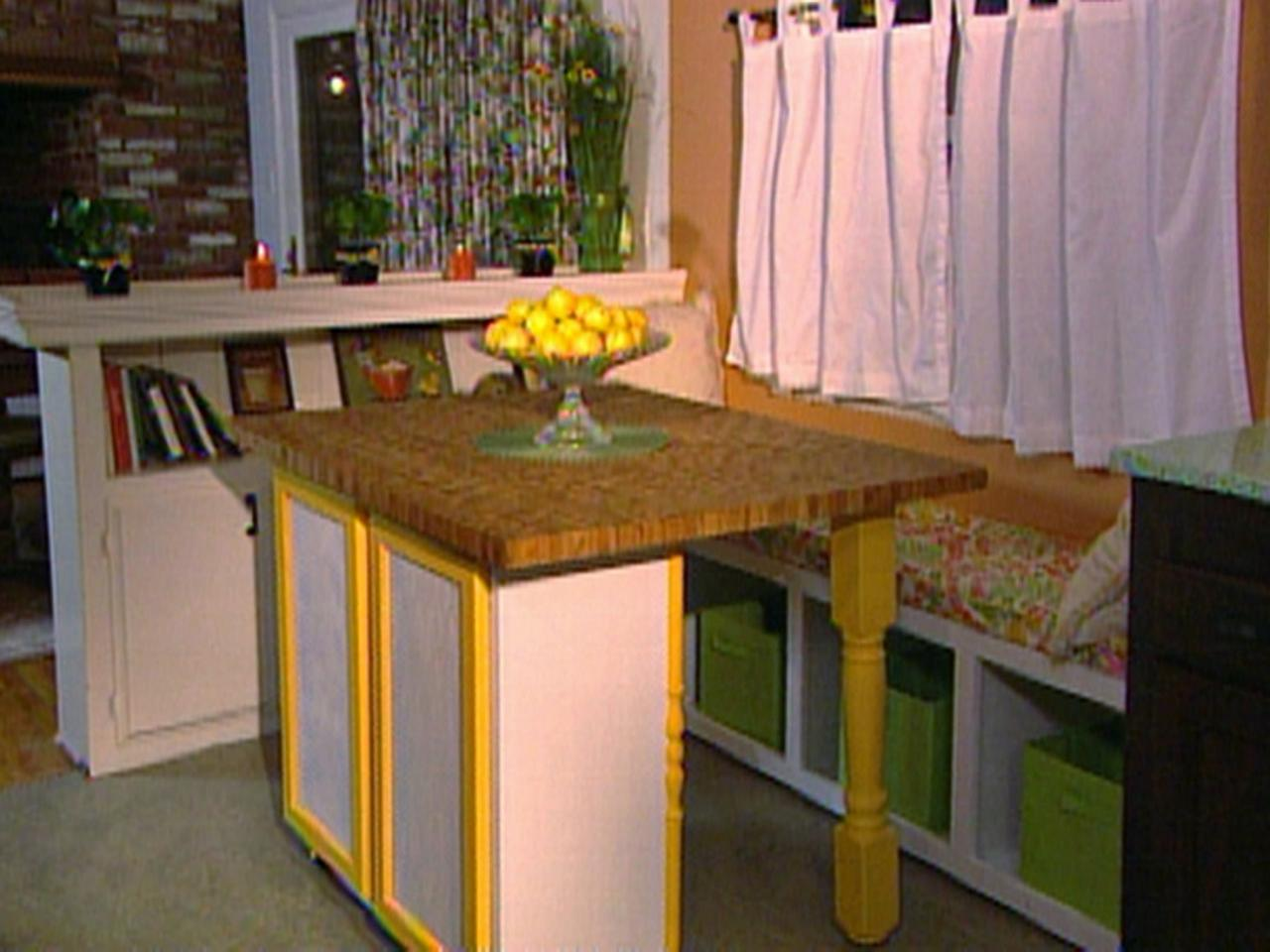 how to build a movable kitchen island build a movable butcher block kitchen table island hgtv 27748
