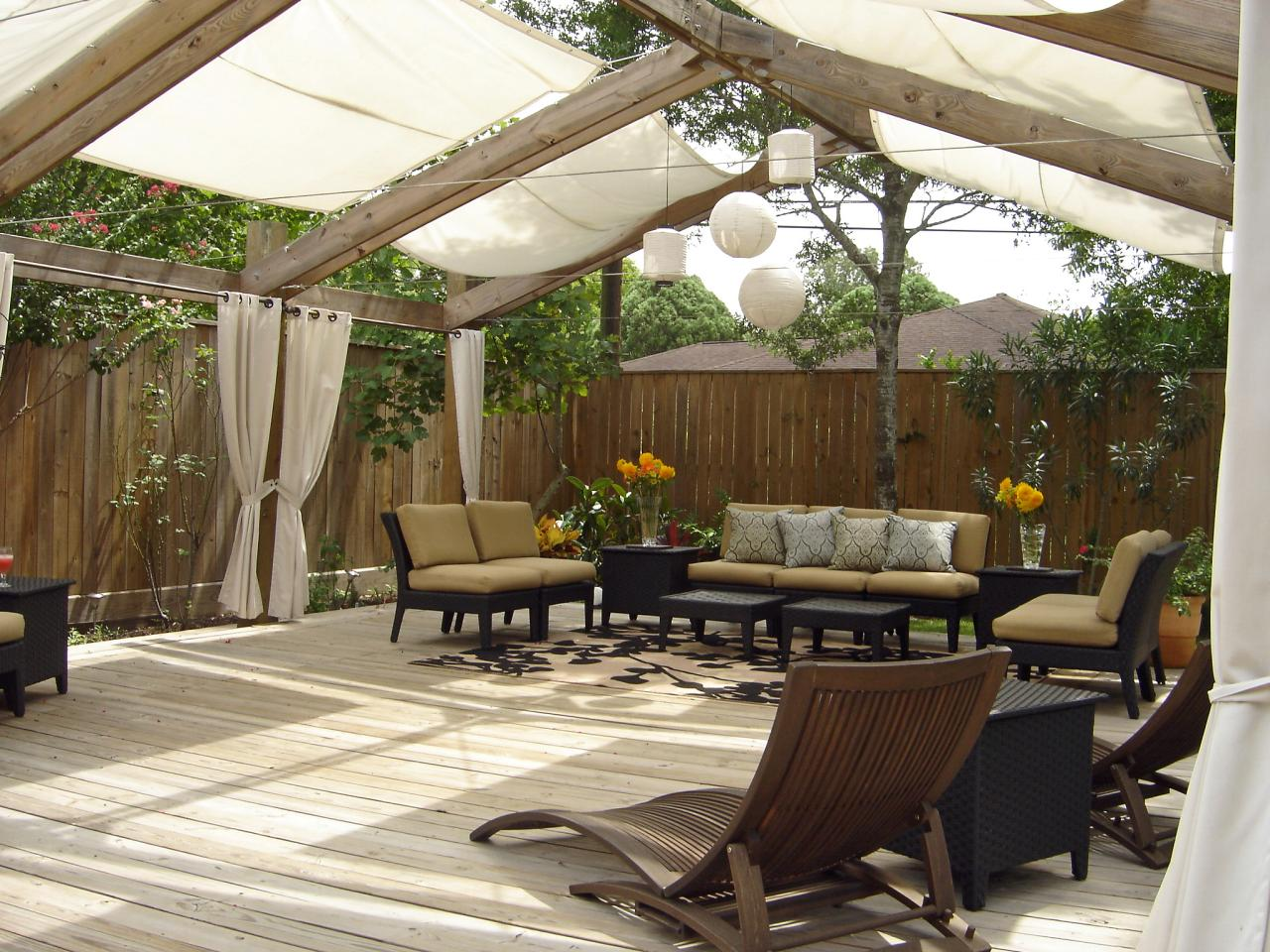 5 diy shade ideas for your deck or patio hgtv 39 s for Patio deck decorating ideas