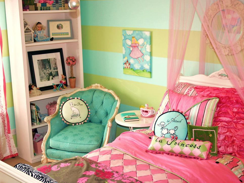 French Themed Girlsu0027 Bedrooms F
