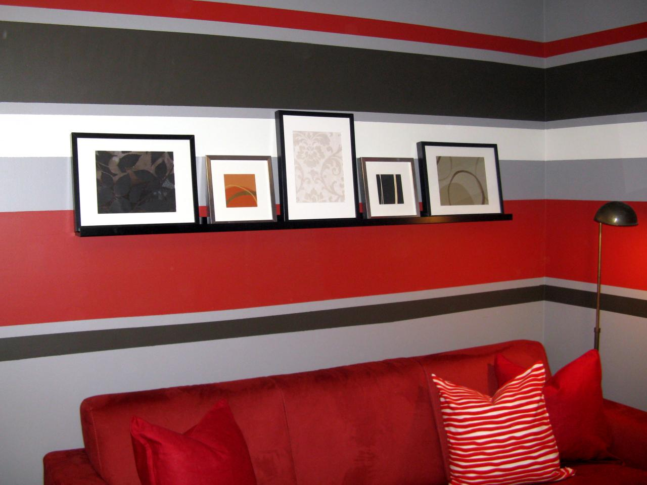 Delightful $100 Half Day Designs: Painted Wall Stripes