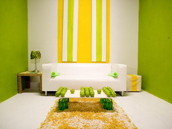 Zesty Apple Green Living Room