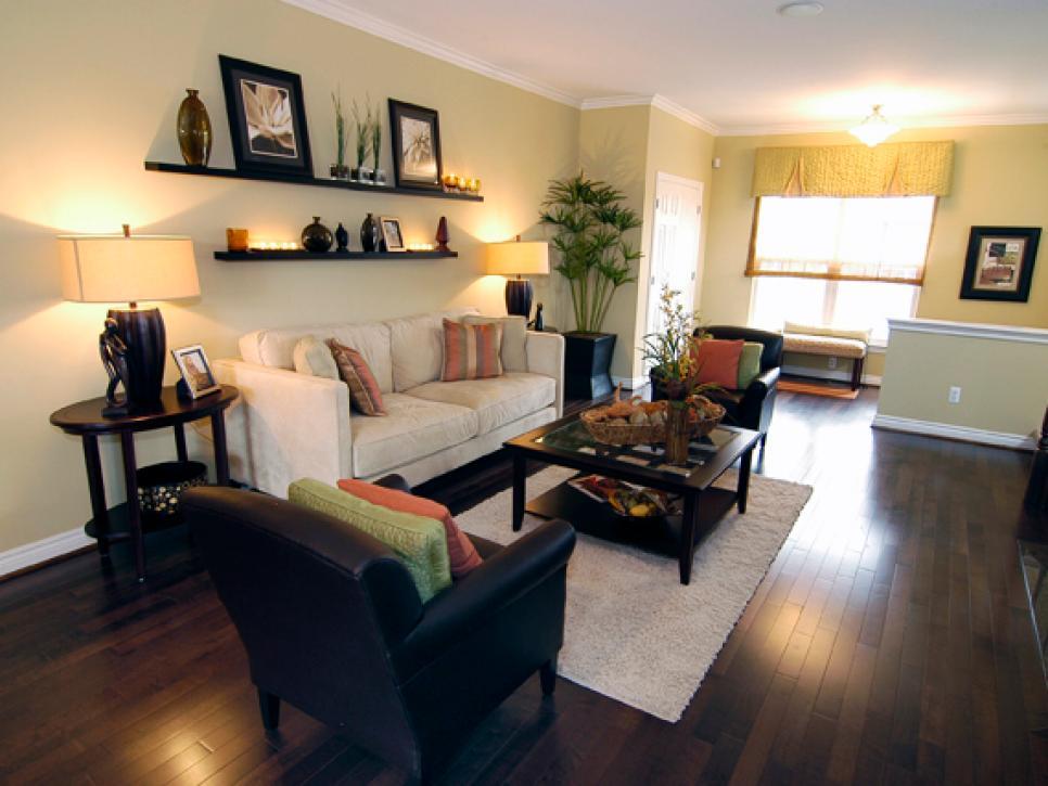inspiring living room floating shelves | Decorating with Floating Shelves | HGTV
