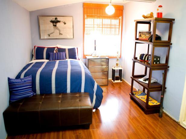 Cool Blue Boy's Room With Baseball Decor | HGTV