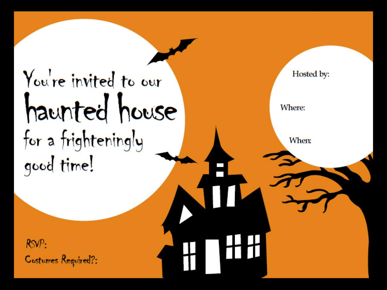 photo about Halloween Invites Printable named 41 Printable (and Free of charge!) Halloween Templates HGTV