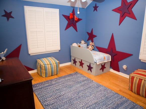 Kid's Bedroom Filled With Color