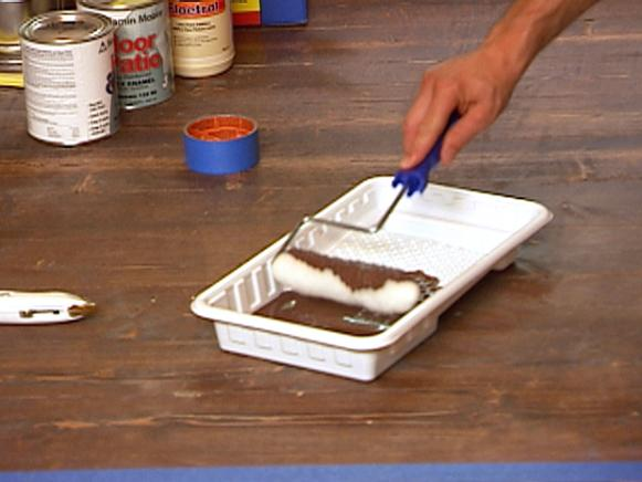 Prepare Paint Roller for Faux Painted Rug