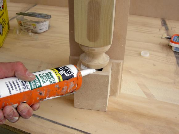 Seal Gaps with Painter's Caulk