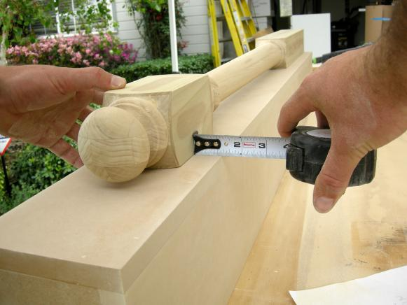 Centering the Newel Post on the Box