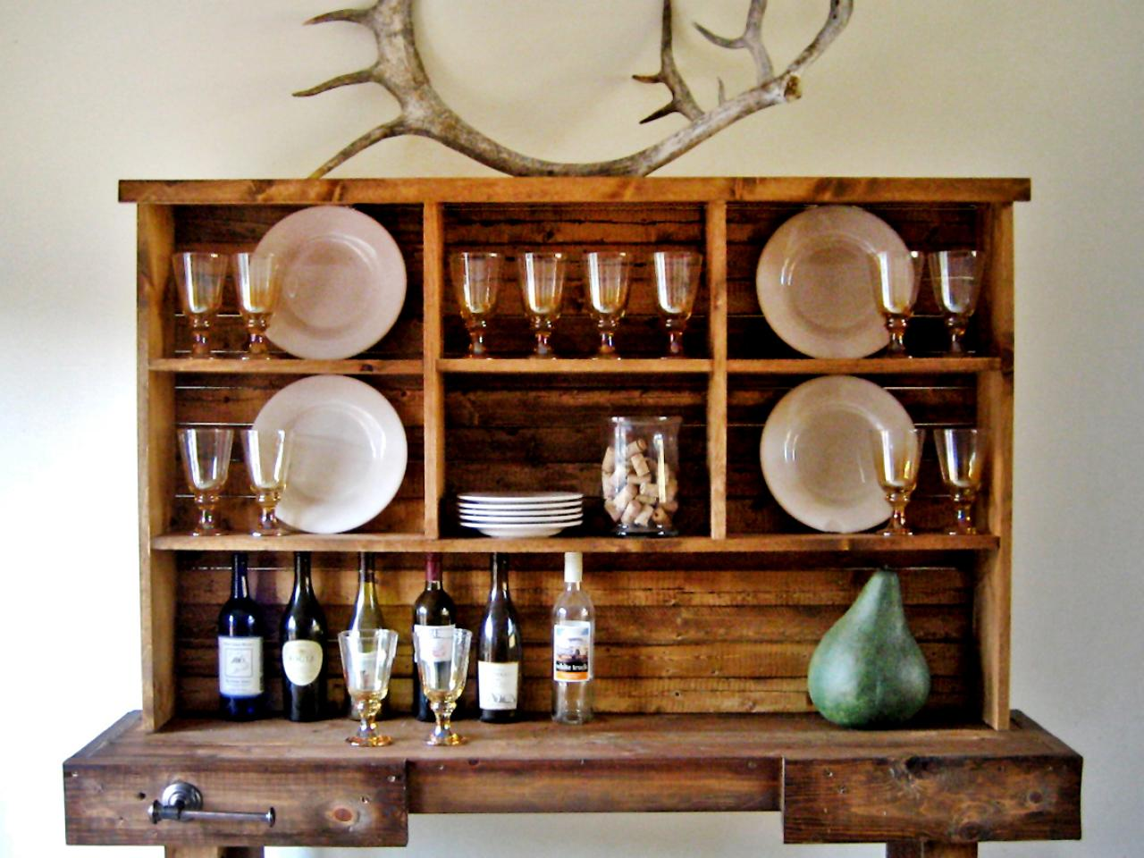 Rustic Dining Room Hutch