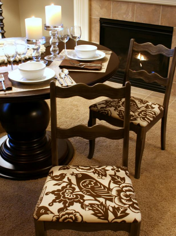 How to Re-Cover a Dining Room Chair | HGTV