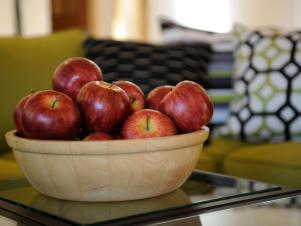 HGTV Dream House 2011 Table and Wooden Apple Bowl
