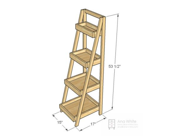 Dimensions of Bathroom Storage Ladder
