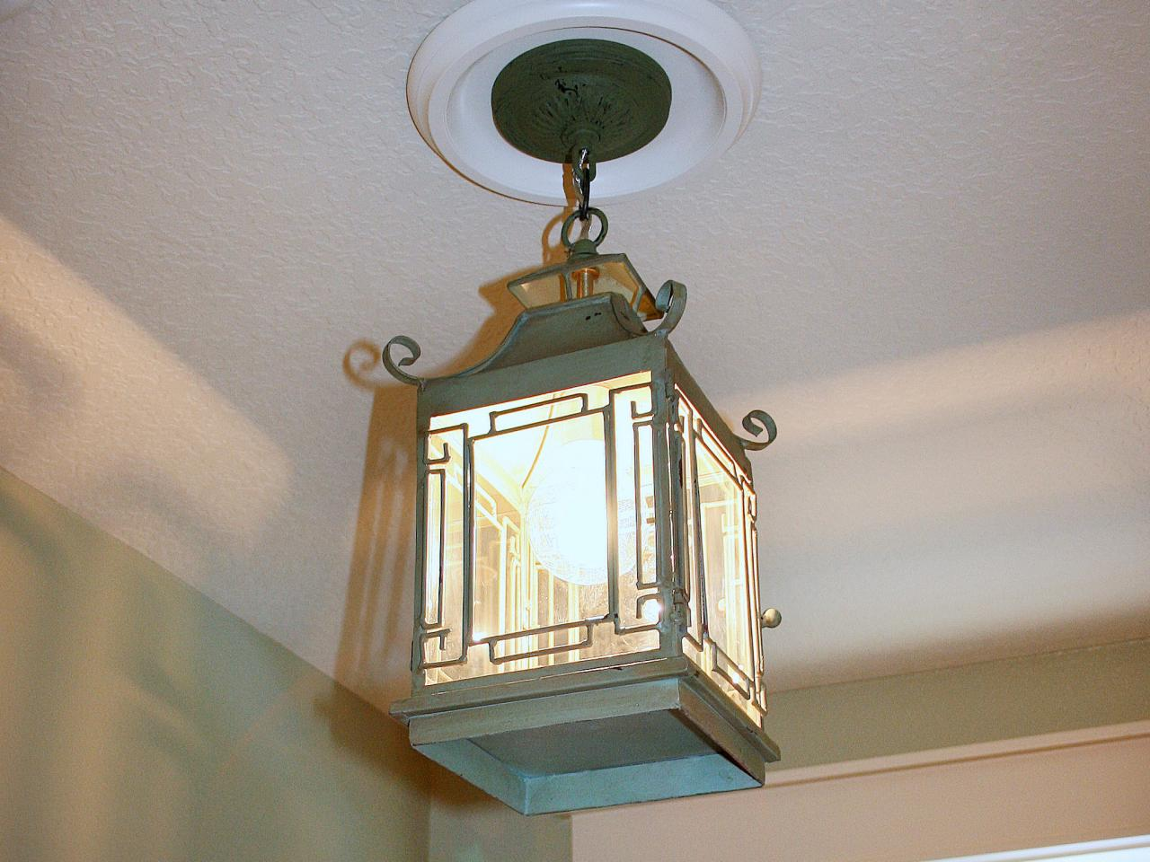 Replace recessed light with a pendant fixture hgtv complete installation of fixture mozeypictures Image collections