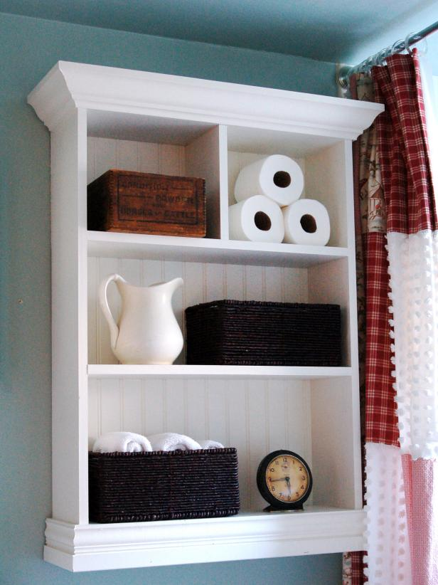 Small Bathroom Wall Shelf Unit Image