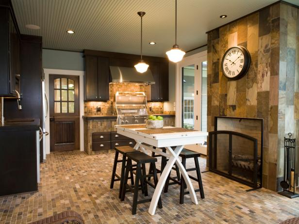 Converted Screen Porch Into Warm Kitchen Area Hgtv