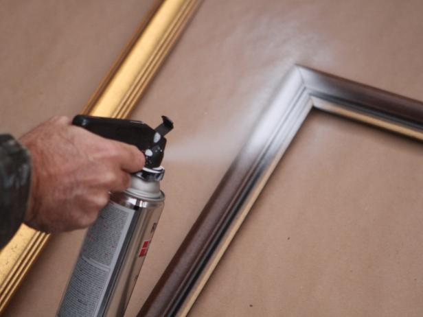Paint Empty Frames For Wall Grouping