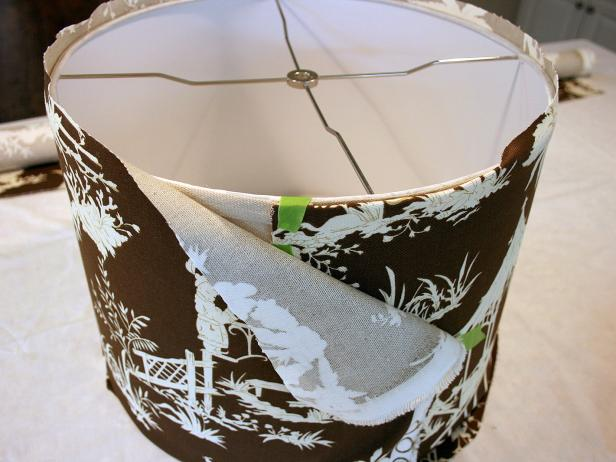 Wrap Fabric Around Lampshade