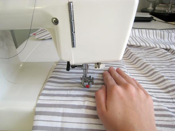 Sew the Hem and Seam of Bed Skirt