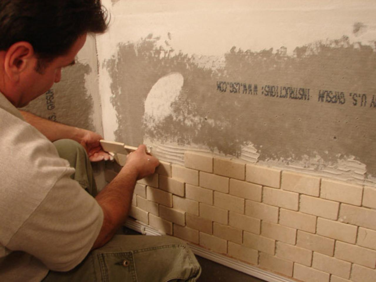 how to put ceramic tiles on bathroom wall how to install tile in a bathroom shower hgtv 26413