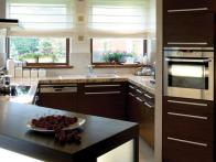 contemporary kitchen dark cabinets