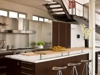 Modern Open Kitchen and Breakfast Island