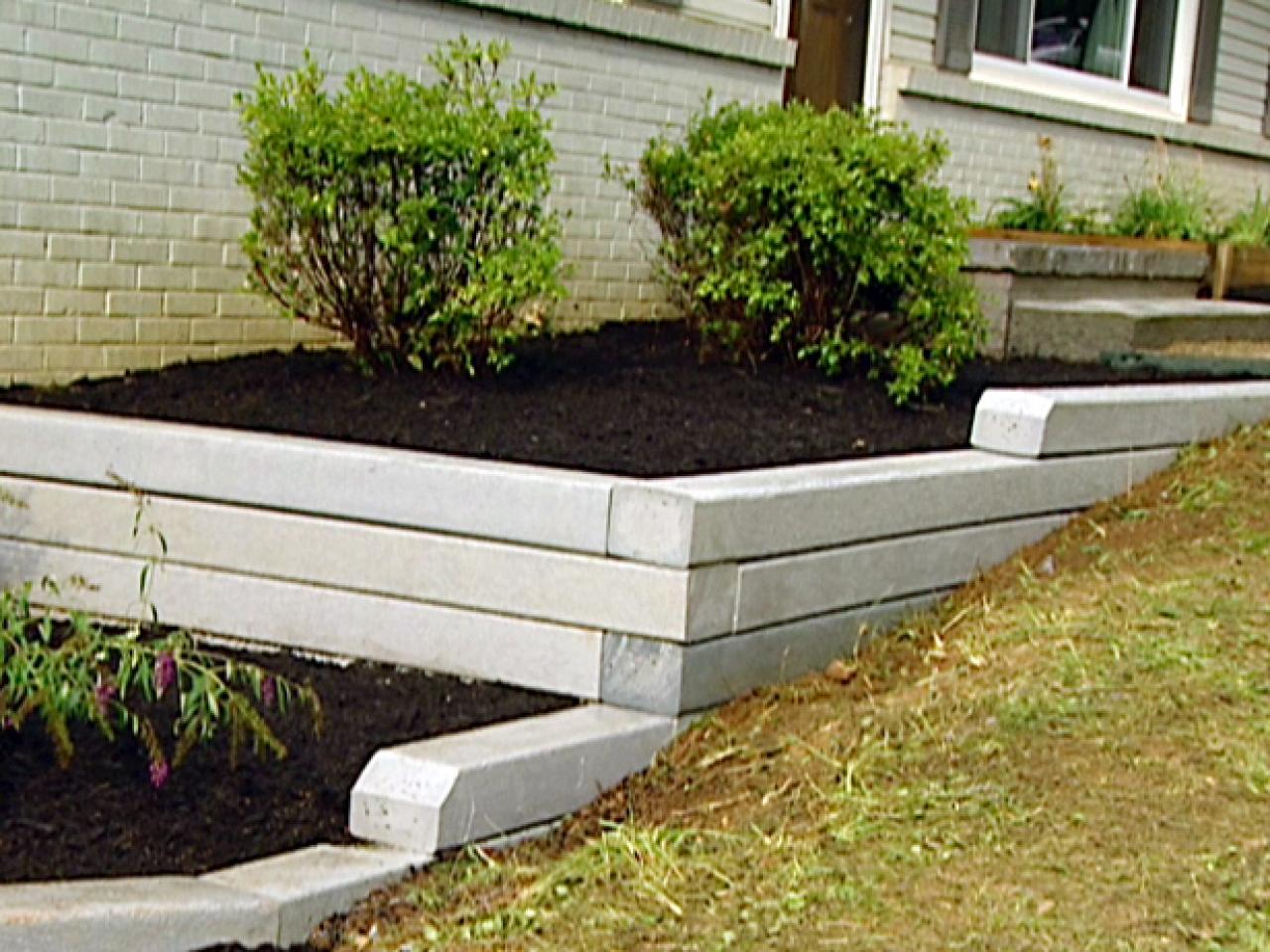 How to install a timber retaining wall hgtv Garden wall color ideas
