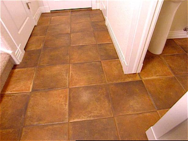 bathroom tile floor installation how to install tile flooring hgtv 16754