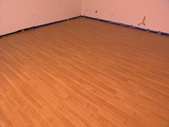 How To Install SnapTogether Laminate Flooring HGTV - What do i put under laminate flooring