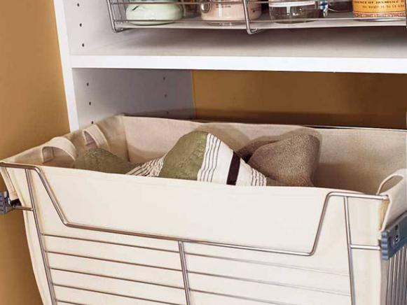 Sliding Hamper Storage