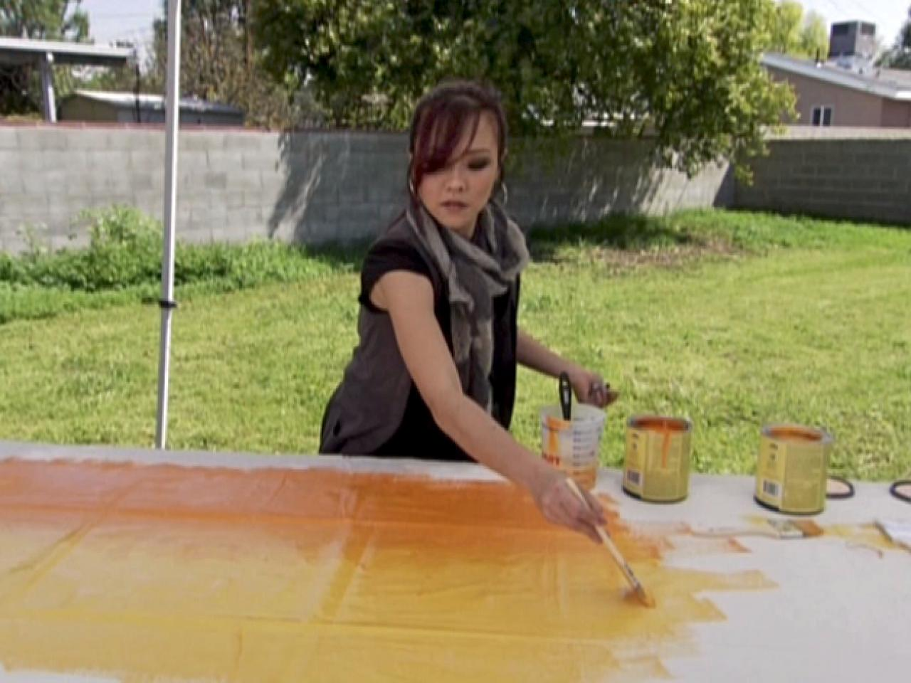 turn old canvas drop cloths into modern art hgtv