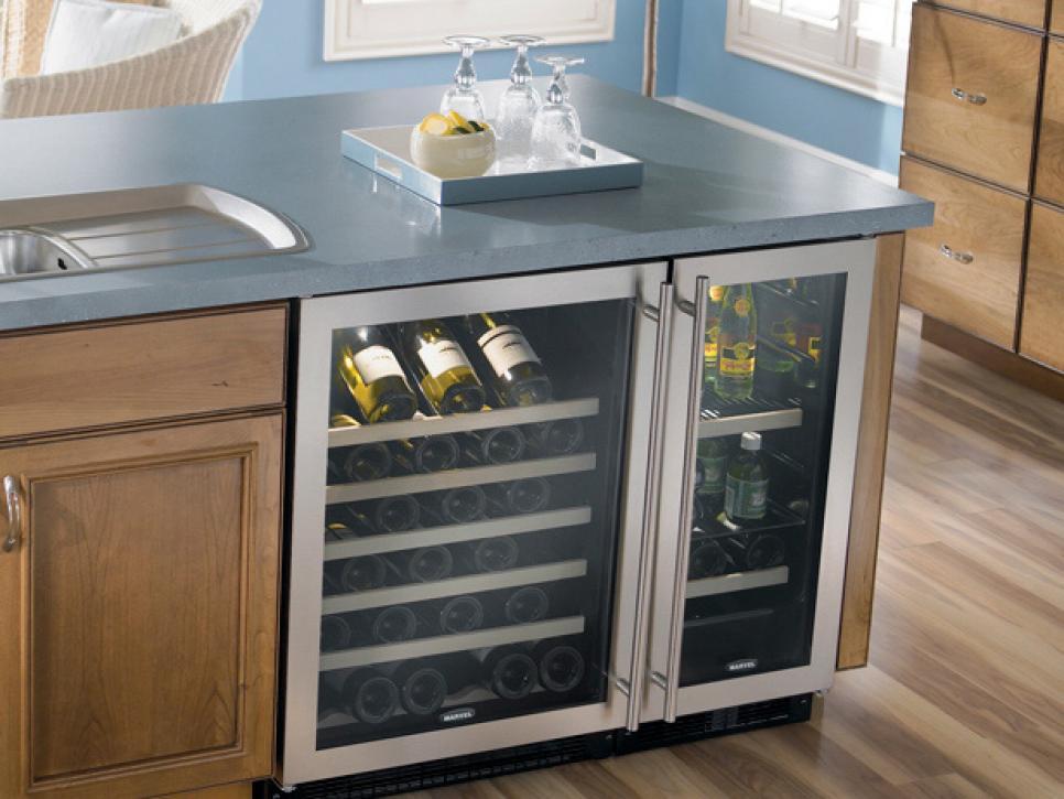 Kitchen Island Ideas With Wine Cooler