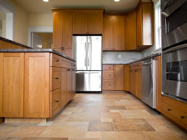 Spacious Kitchen with Wood and Tile & Choose the Best Flooring for Your Kitchen | HGTV
