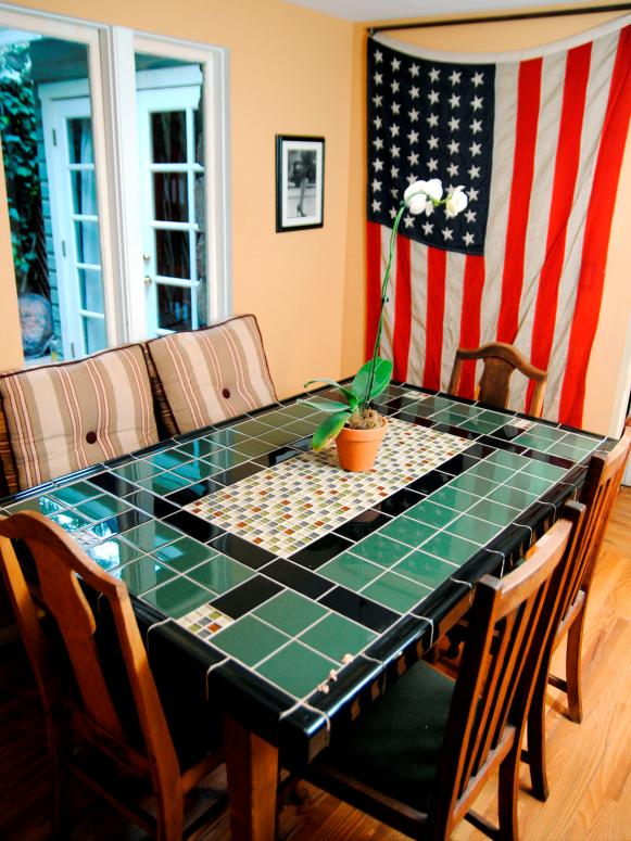 Create A MosaicTile Tabletop HGTV - Coffee table with tile inlay