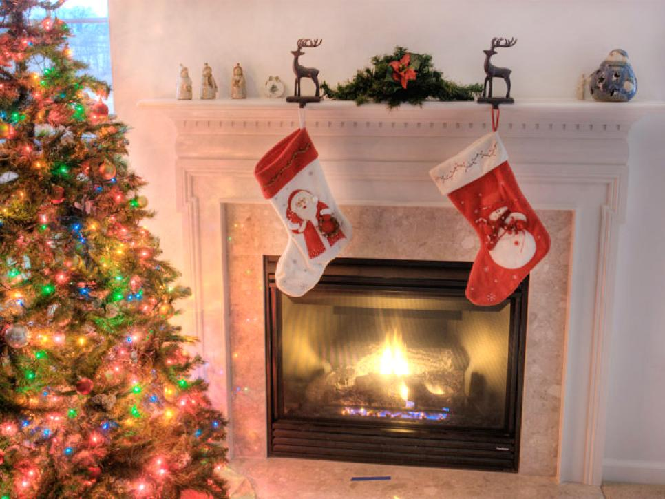 back to basics - Fireplace Christmas Decorations