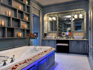 French Country Blue Bathroom