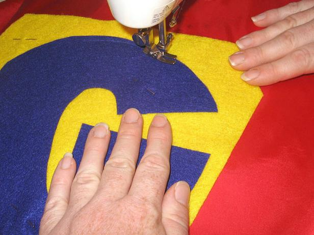 Sew Initial to Superhero Cape