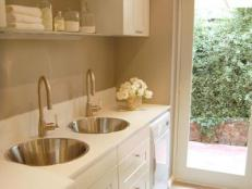 Laundry Room With Two Sinks