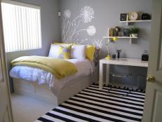Contemporary Teen Bedroom With Yellow Accents