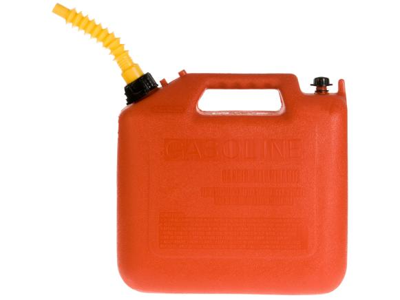 Red Plastic Gas Can