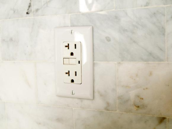 Electrical Wall Socket Offers Two Receptacles
