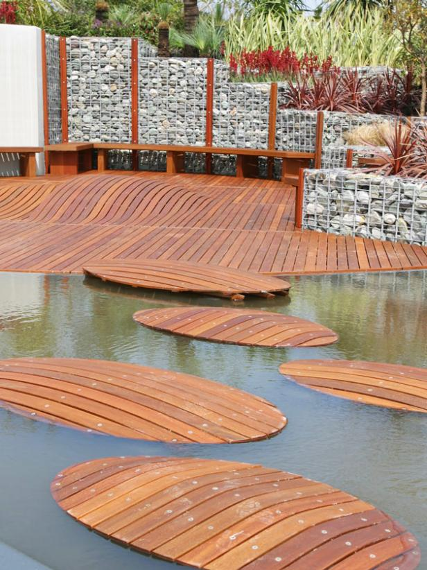 Innovative design ideas for stunning decks hgtv for Outside decking material