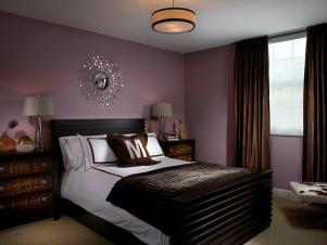 Purple and Brown Bedroom