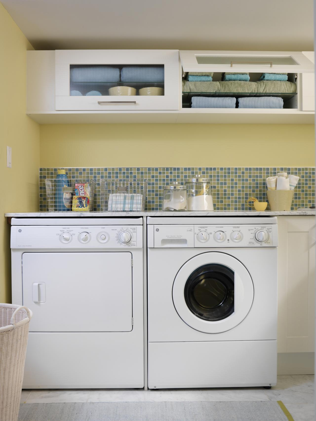 10 Clever Storage Ideas for Your Tiny Laundry Room | HGTV ... on Laundry Room Organization Ideas  id=32702